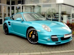 Ipanema Blue Metallic with Ocean Blue Leather interior. turbo s copy