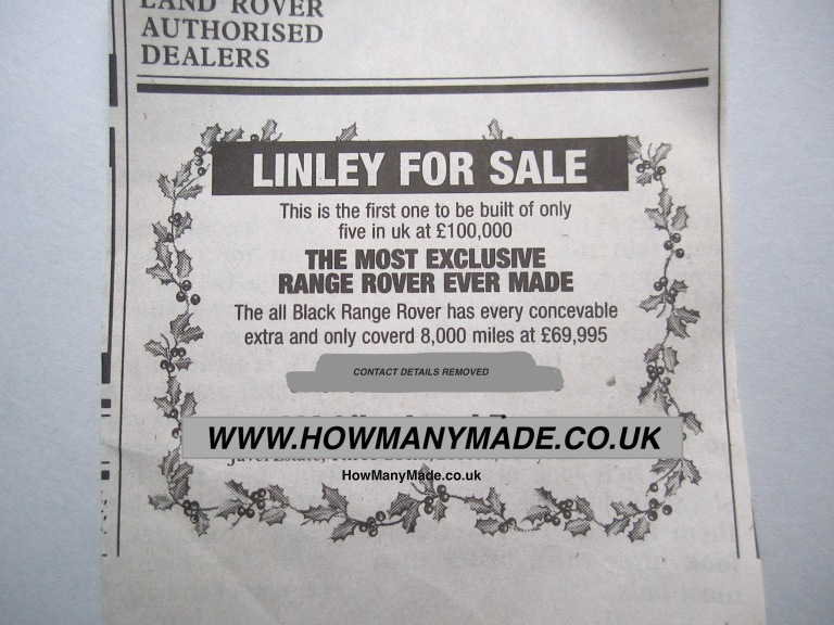 Linley The Full Ad. ©www.howmanymade.co.uk
