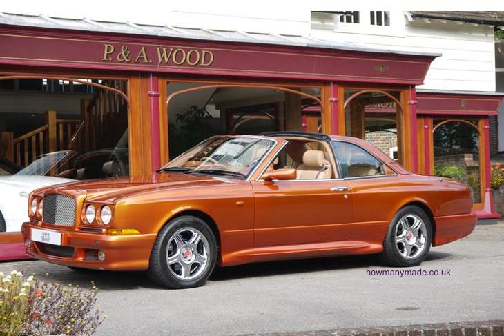 bentley-continental-SC flame Orange. 1998. Ex Motor Show