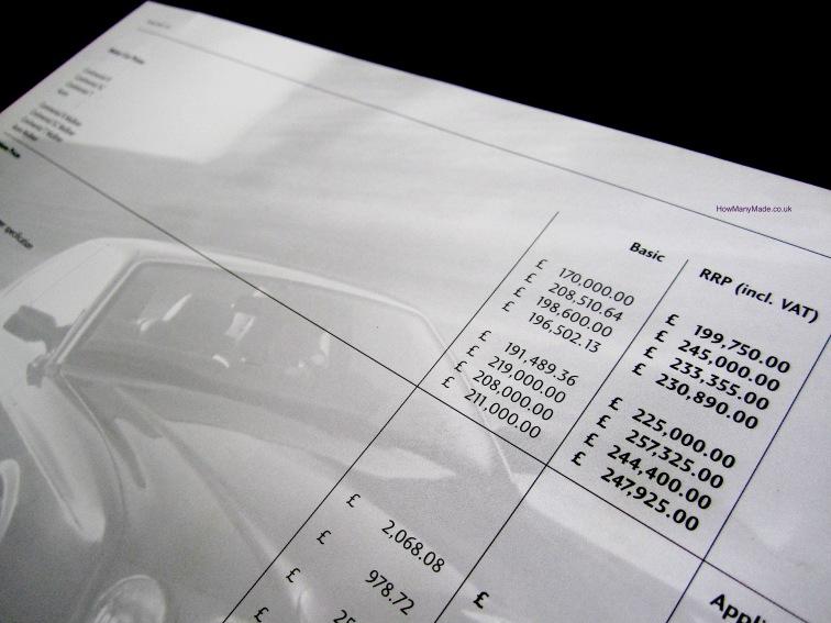SC Price Guide in Mulliner Versions