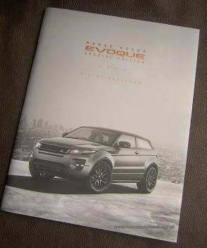 The rare UKVB EvoqueBrochure