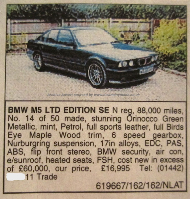 Bmw M5 Le 1995 How Many Made