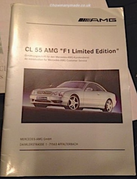 CL55 AMG F1 Intro Booklet.