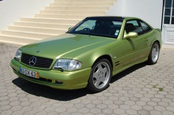 SL320- lime Green. uk car. gas conv though..98R
