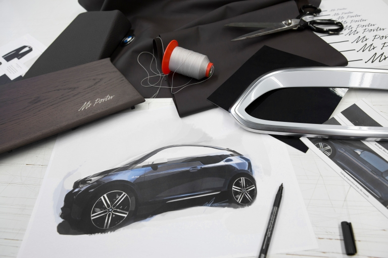 BMW i3 Mr Porter sketch drawing